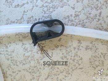 Platypus GravityWorks hose clamp