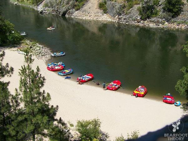 outdoor Idaho rafting