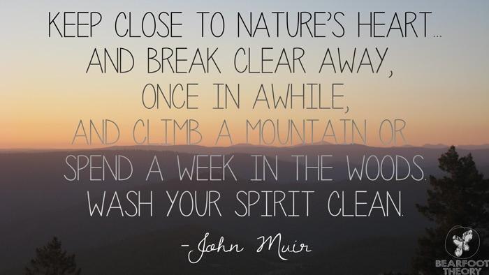 John Muir Trail quote