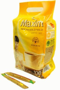 Maxim Mocha Gold Korean Instant Coffee // Simple lightweight backpacking food ideas from breakfast to dinner. These are delicious, easy to prepare & require little cleanup.