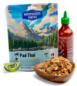 Backpacker's Pantry Pad Thai // Simple lightweight plant based backpacking food ideas from breakfast to dinner. These are delicious, easy to prepare & require little cleanup.