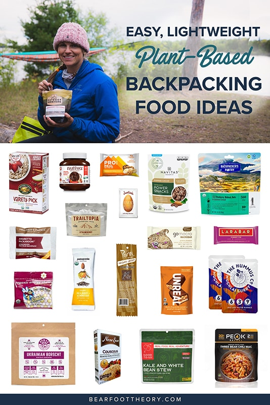Simple lightweight vegan backpacking food ideas from breakfast to dinner. These are delicious, easy to prepare & require little cleanup.