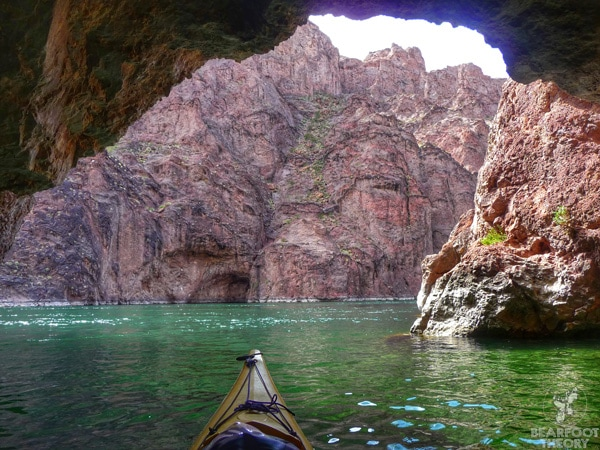 The Vegas Black Canyon is a paddling paradise 45 minutes from the Las Vegas, Nevada, loaded with narrow slot canyons and some seriously awesome hot springs.