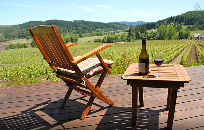 Willamette Valley is a great place to stop for wine tasting and bike riding on an Oregon road trip.