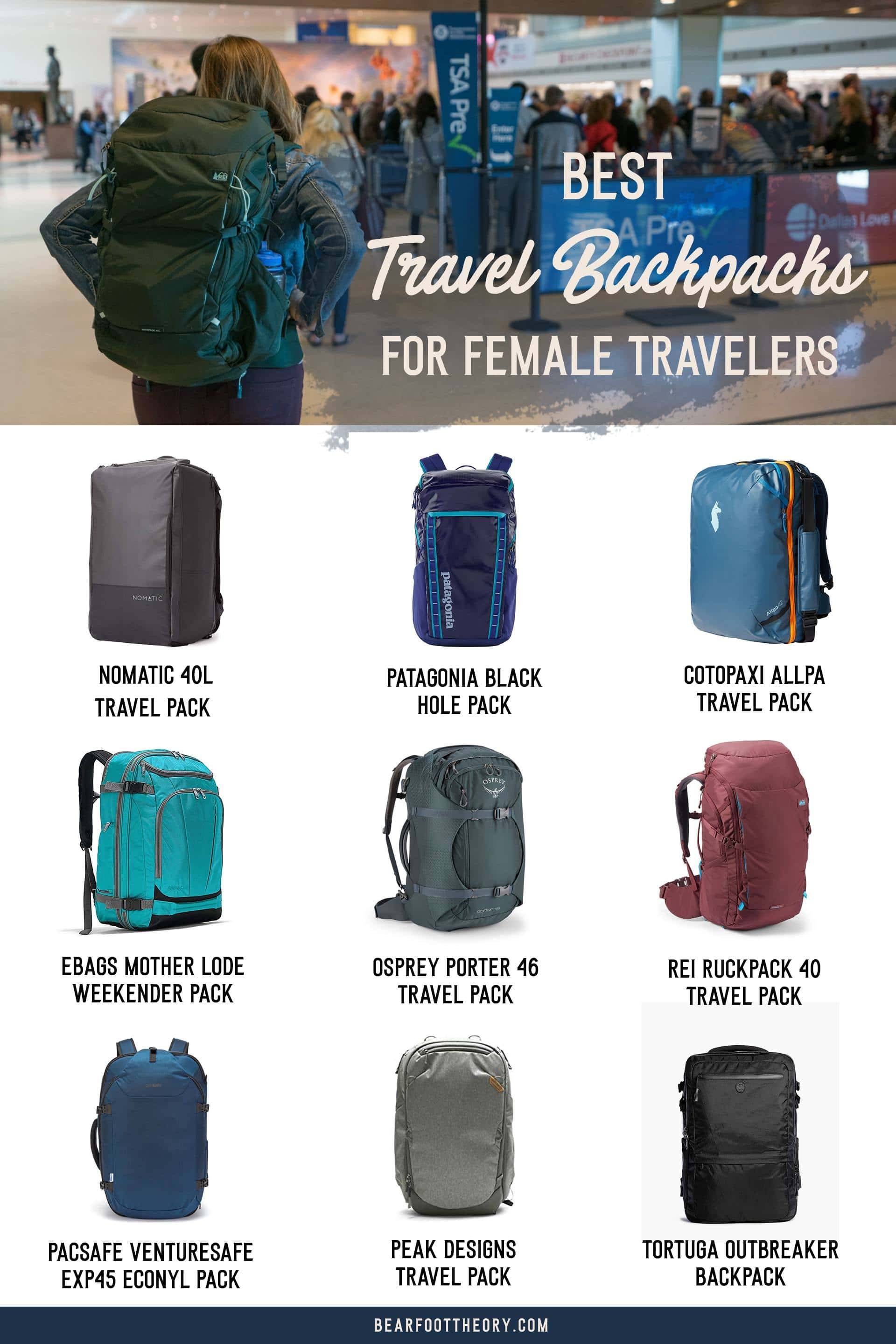 Pack light, get organized, and be more flexible on your travels. Here are the 9 best travel backpacks for women in 2020 for easy packing & happy traveling.