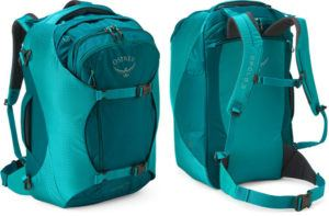 Osprey Porter 46 pack // Here are the best travel backpacks for women in 2021 so you can pack light, get organized, and be more flexible on your travels.