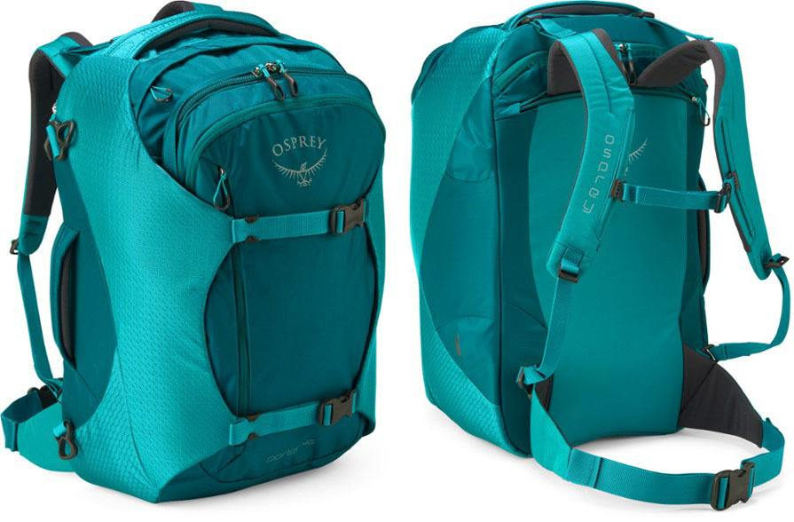 Osprey Porter 46 pack // Sick of lugging around unorganized & bulky luggage on your travels? Here are the 7 best travel backpacks on the market for easy packing and happy traveling.