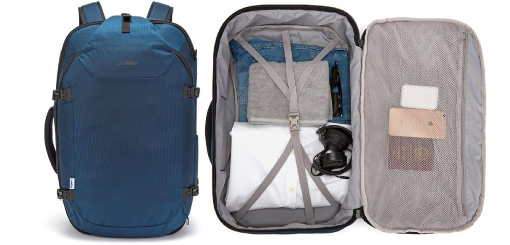 Pacsafe Venture Travel Pack is one of the best travel backpacks for women that is loaded with safety features