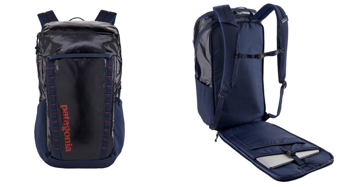 Patagonia Black Hole Travel Pack // Sick of lugging around unorganized & bulky luggage on your travels? Here are the 7 best travel backpacks on the market for easy packing and happy traveling.