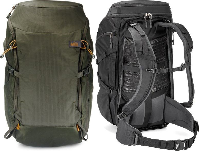 REI Ruckpack // Sick of lugging around unorganized & bulky luggage on your travels? Here are the 7 best travel backpacks on the market for easy packing and happy traveling.