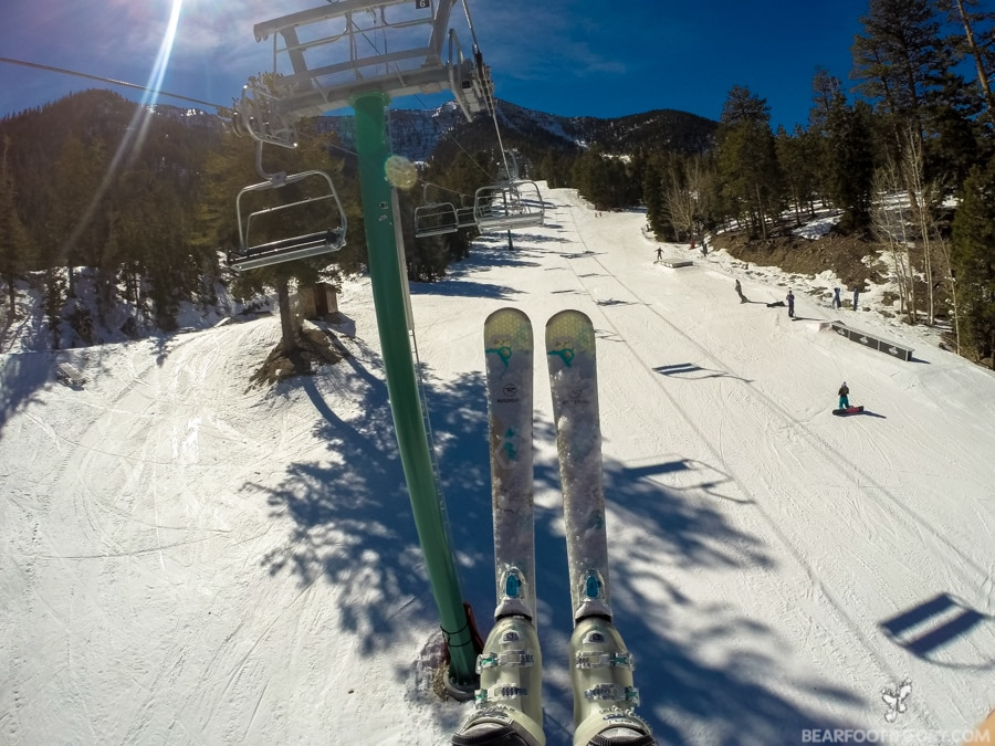 Bluebird Chair Lift at Las Vegas Ski and Snowboard Resort - 40 minutes from the Vegas Strip
