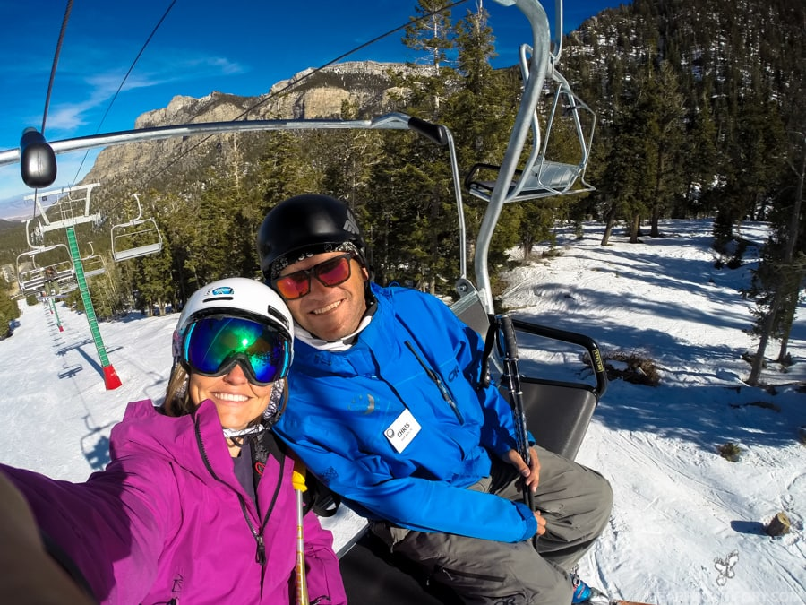 Las Vegas Ski and Snowboard Resort - 40 minutes from the Vegas Strip - offers complimentary ski and snowboard coaching