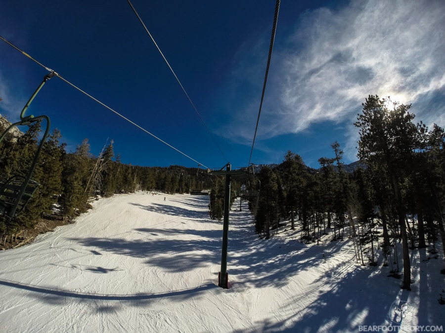 Sherwood Chair Lift at Las Vegas Ski and Snowboard Resort - 40 minutes from the Vegas Strip