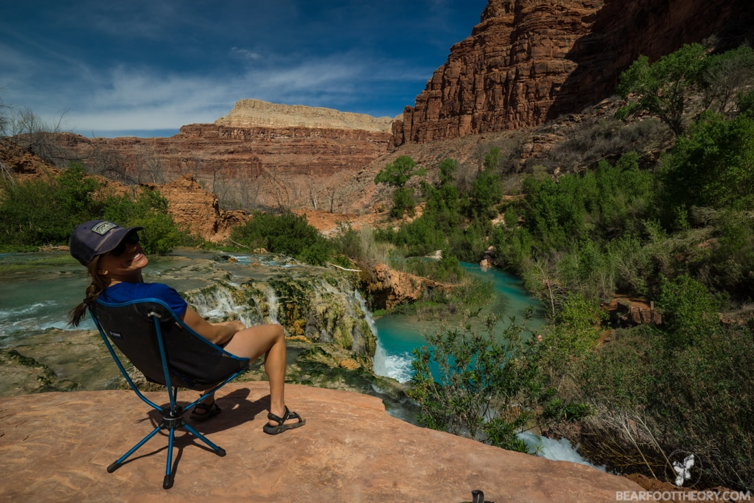 Navajo Falls in Havasu Canyon on the Havasupai Indian Reservation