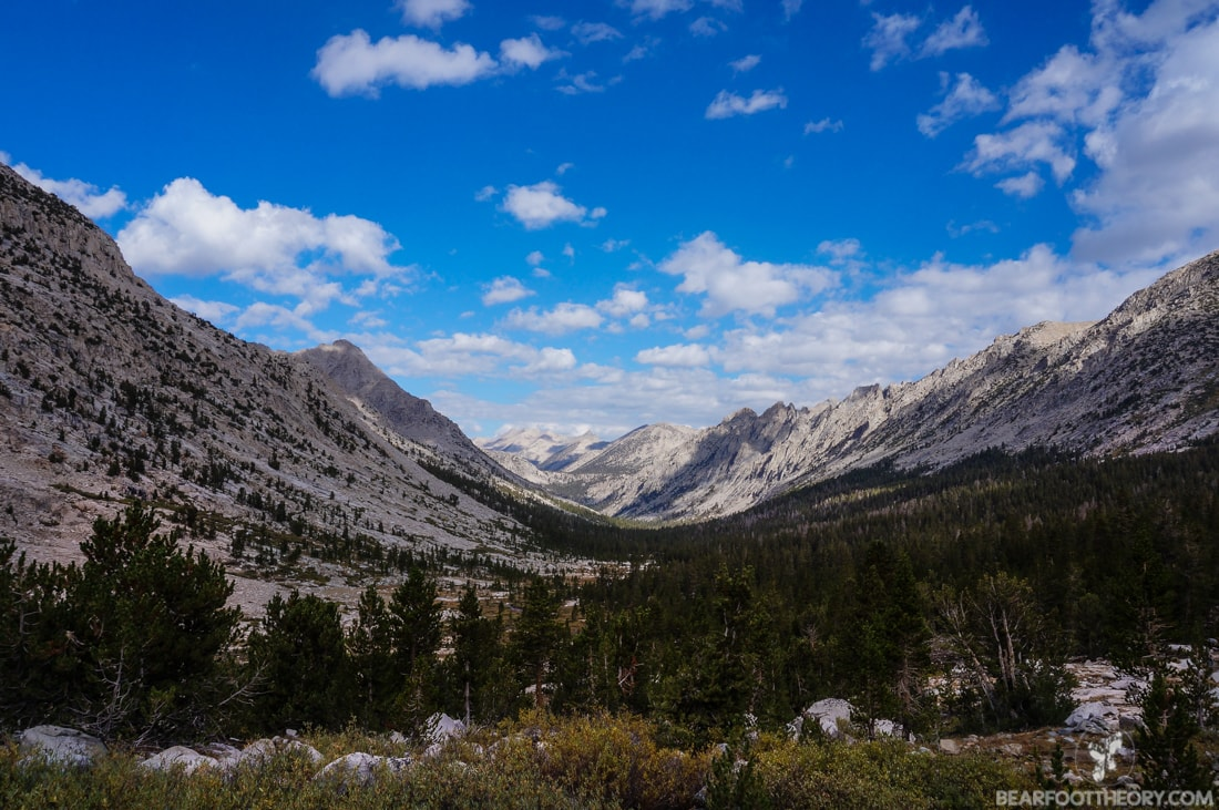 John Muir Trail Trip Report: Looking back into Vidette Meadow