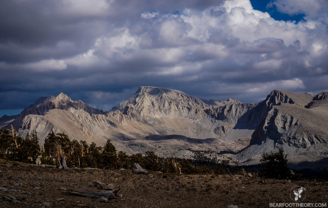John Muir Trail Trip Report: View of Mt. Whitney from Bighorn Plateau
