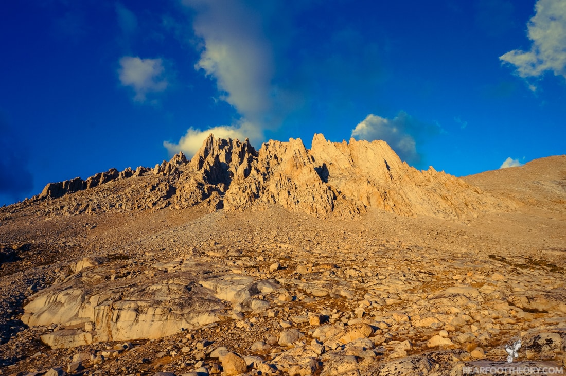 John Muir Trail Trip Report: Alpenglow below Mt. Whitney