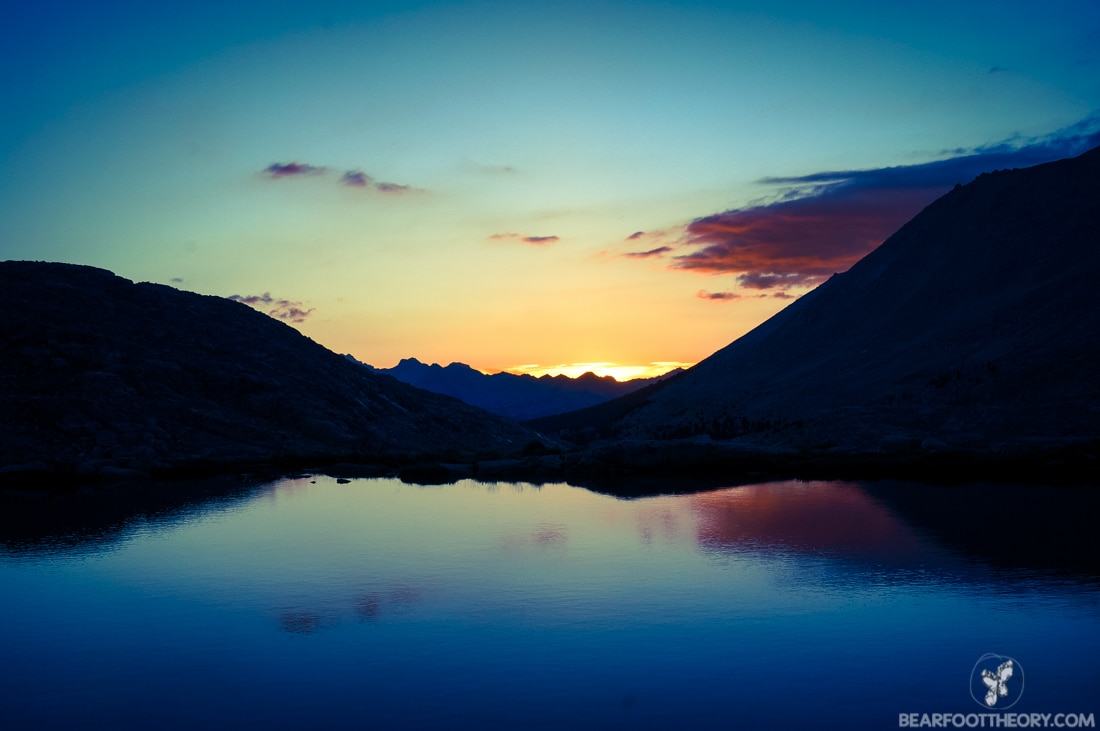 John Muir Trail Trip Report: Sunset over Guitar Lake