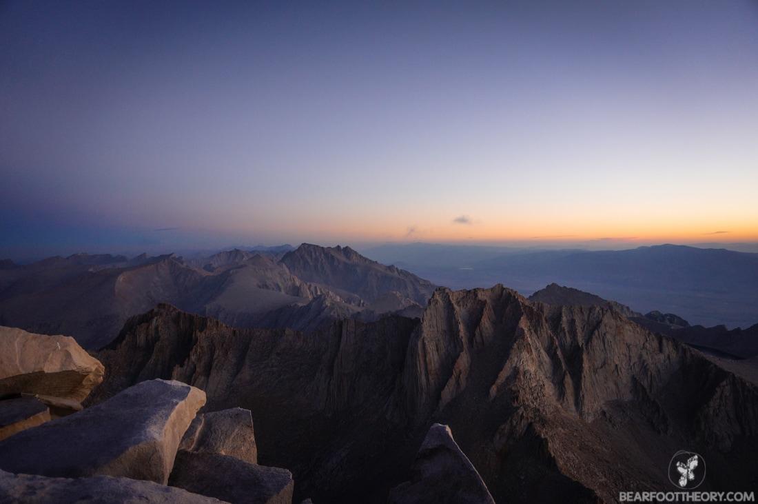 John Muir Trail Trip Report: Mt. Whitney summit