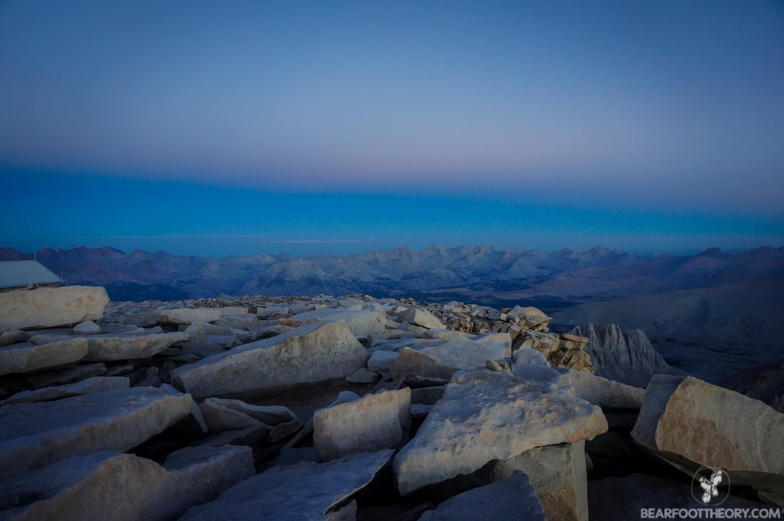 John Muir Trail Trip Report: Mt. Whitney summit