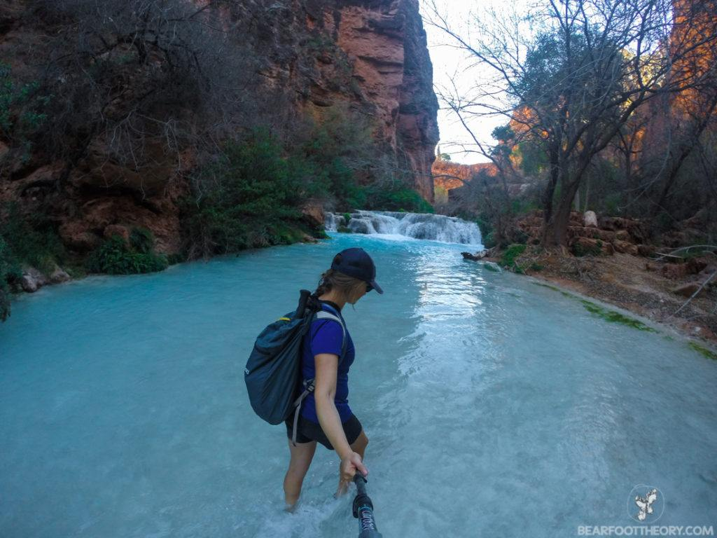 The trail to Beaver Falls on the Havasupai Indian Reservation