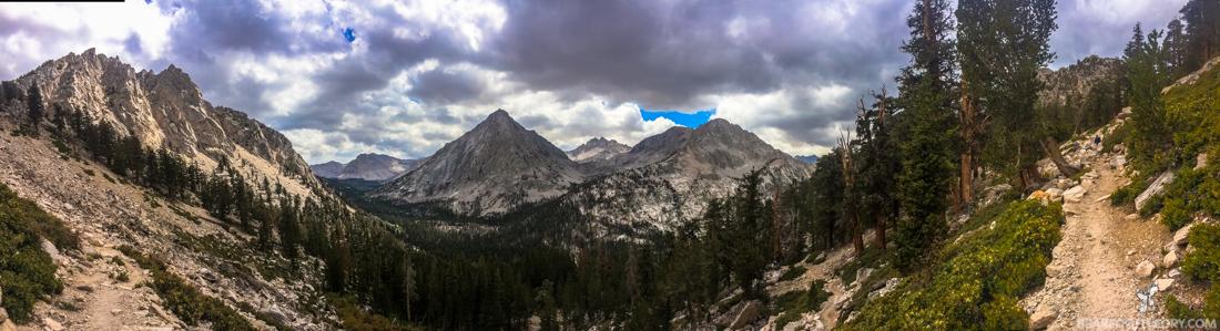 John Muir Trail Trip Report: Hiking down into Vidette Meadow