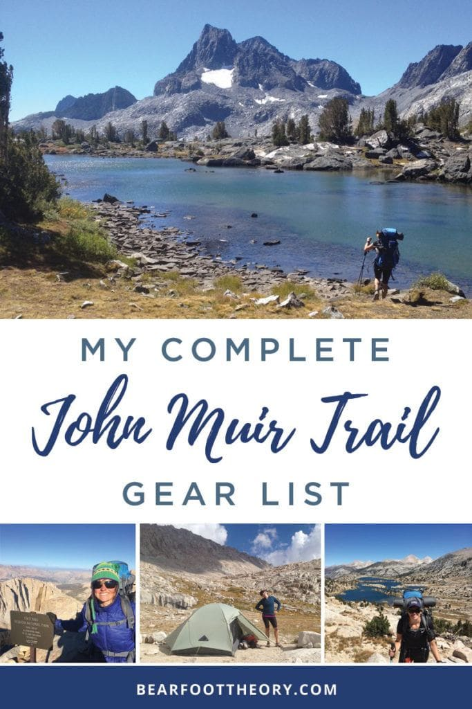 John Muir Trail Gear List