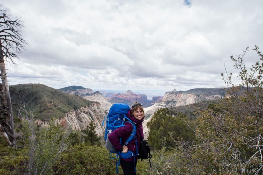 Kristen backpacking in Zion National Park // West Rim Trail