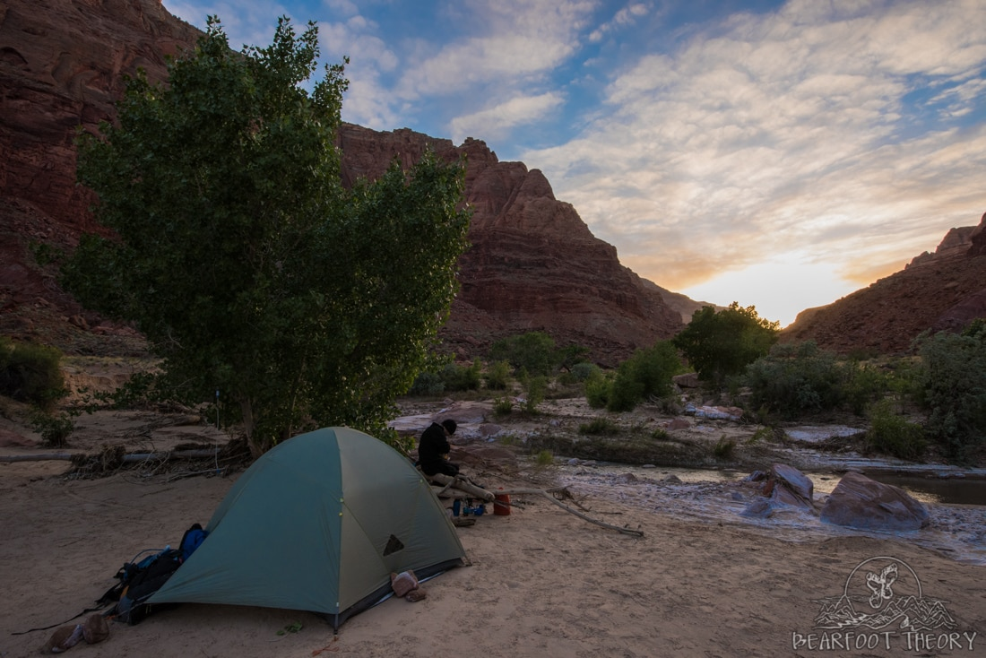 Paria Canyon backpacking guide including gear, permits, campsites, and water sources