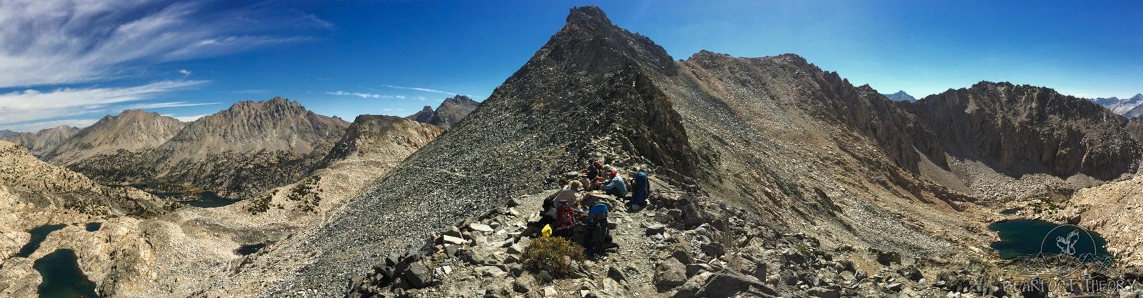 John Muir Trail - Panoramic view from Glen Pass