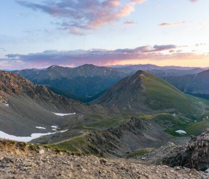 6 Easy Colorado 14ers to hike, including Mt. Bierstadt, Grays Peak and Torreys Peak, Mt. Sherman, Handies Peak, and Mount of the Holy Cross.