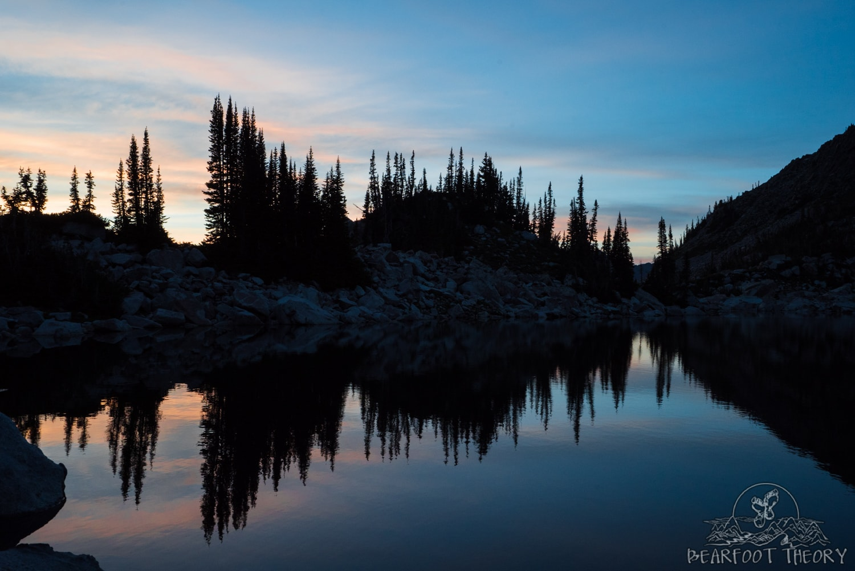 Sunset at Salt Lake City's Red Pine Lake