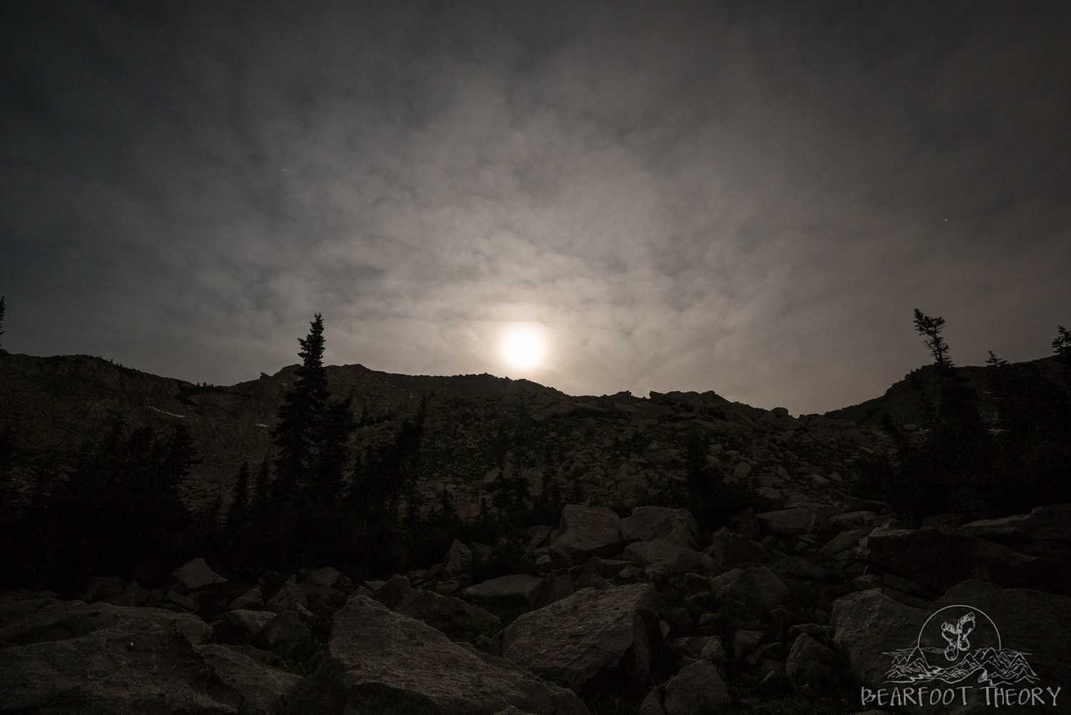 Full moon rising over White Baldy in Salt Lake's Wasatch Range
