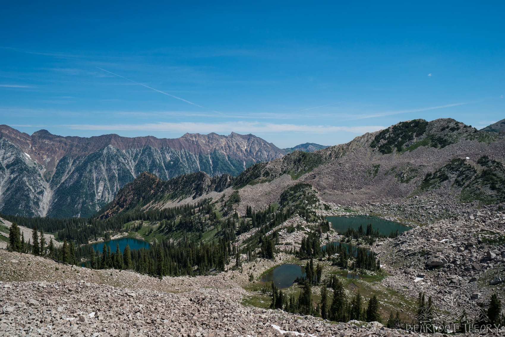 The views of Red Pine Lake on the way up to the Pfeifferhorn, the third tallest peak near Salt Lake City