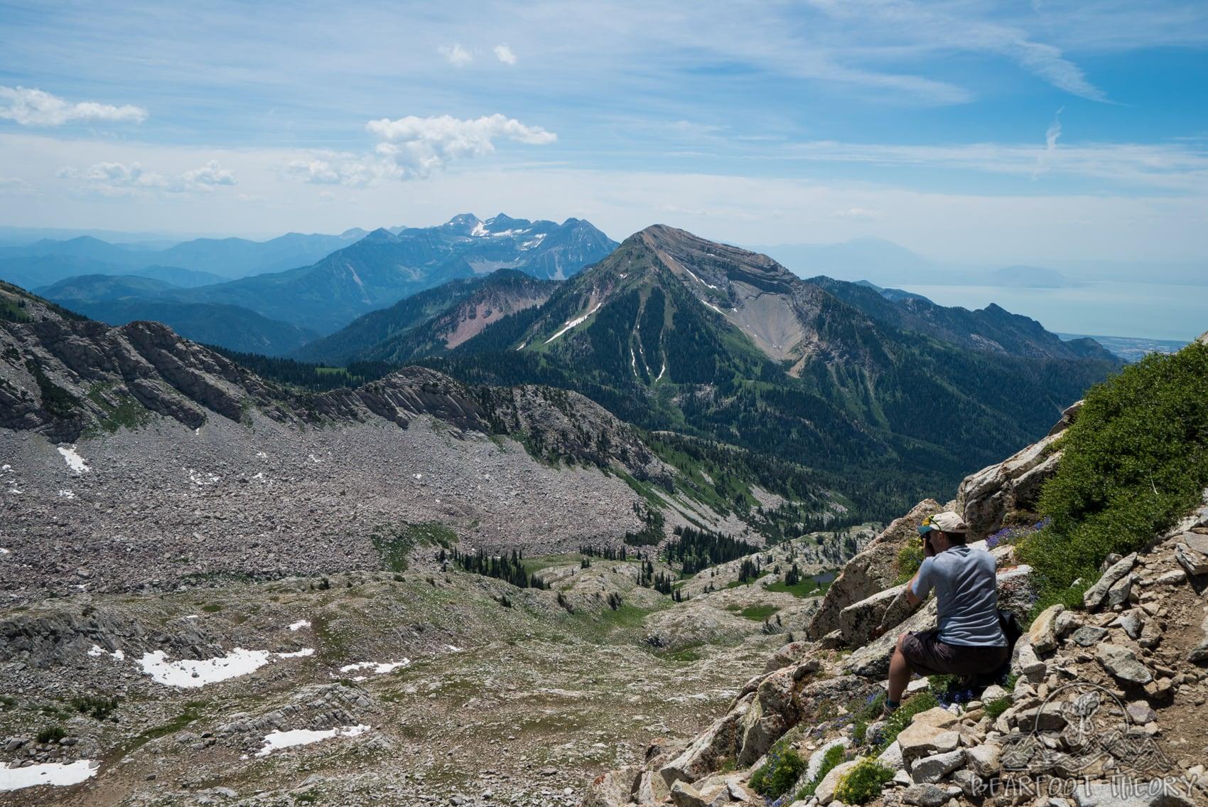 Views of Mt. Timpanogos from the Pfeifferhorn near Salt Lake City