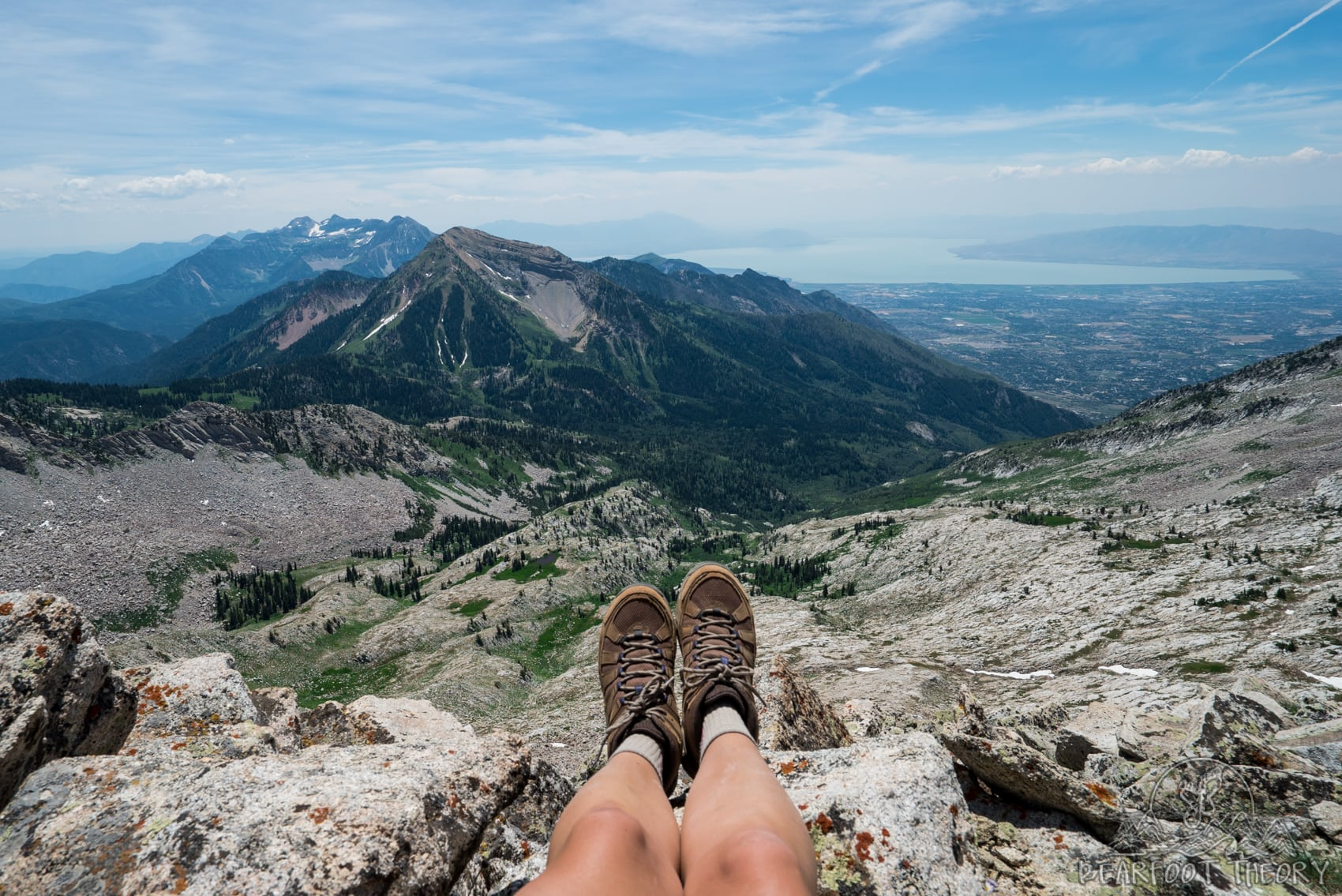 The summit of the Pfeifferhorn, the third tallest peak near Salt Lake City in the Wasatch Mountain Range