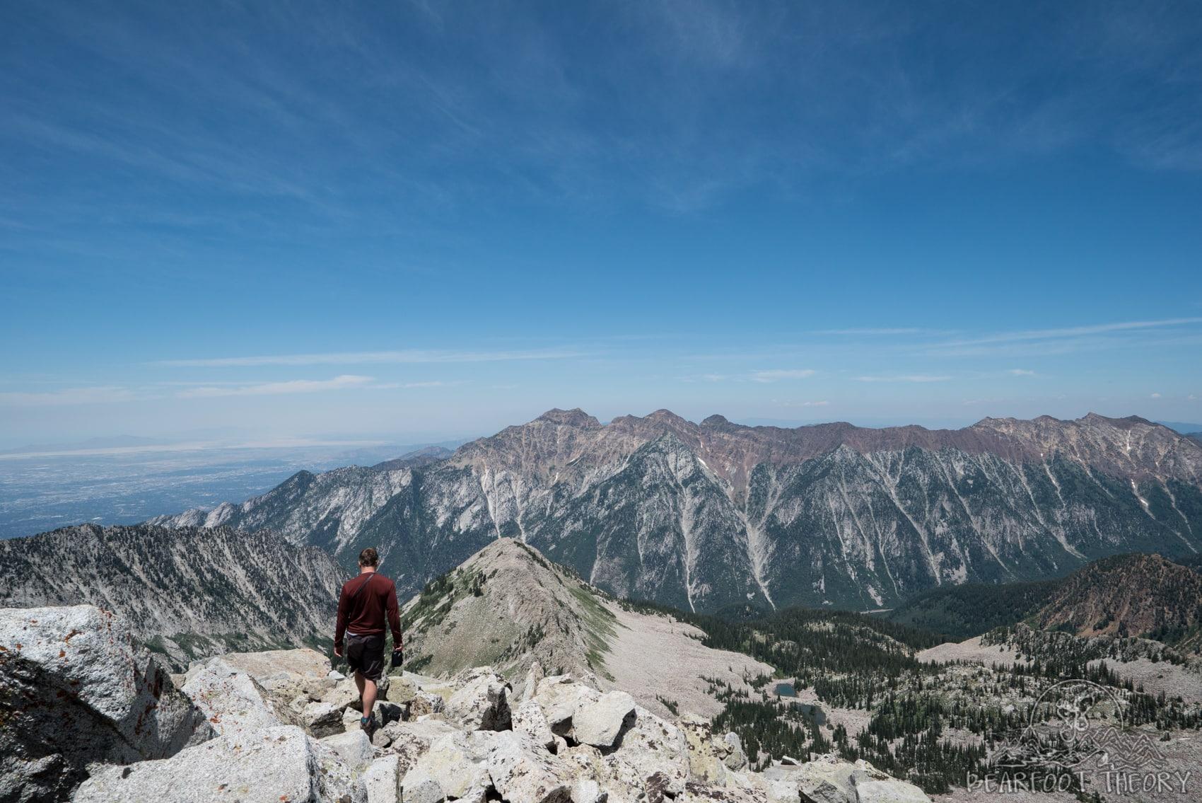 Climbing the Pfeifferhorn, the third tallest peak near Salt Lake City in the Wasatch Mountain Range