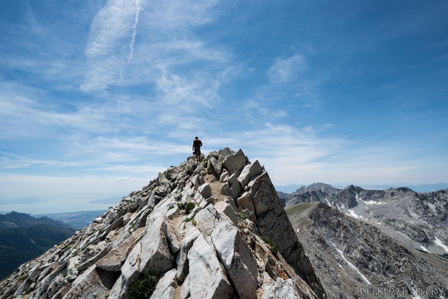 The Pfeifferhorn summit, the third tallest peak near Salt Lake City in the Wasatch Mountain Range