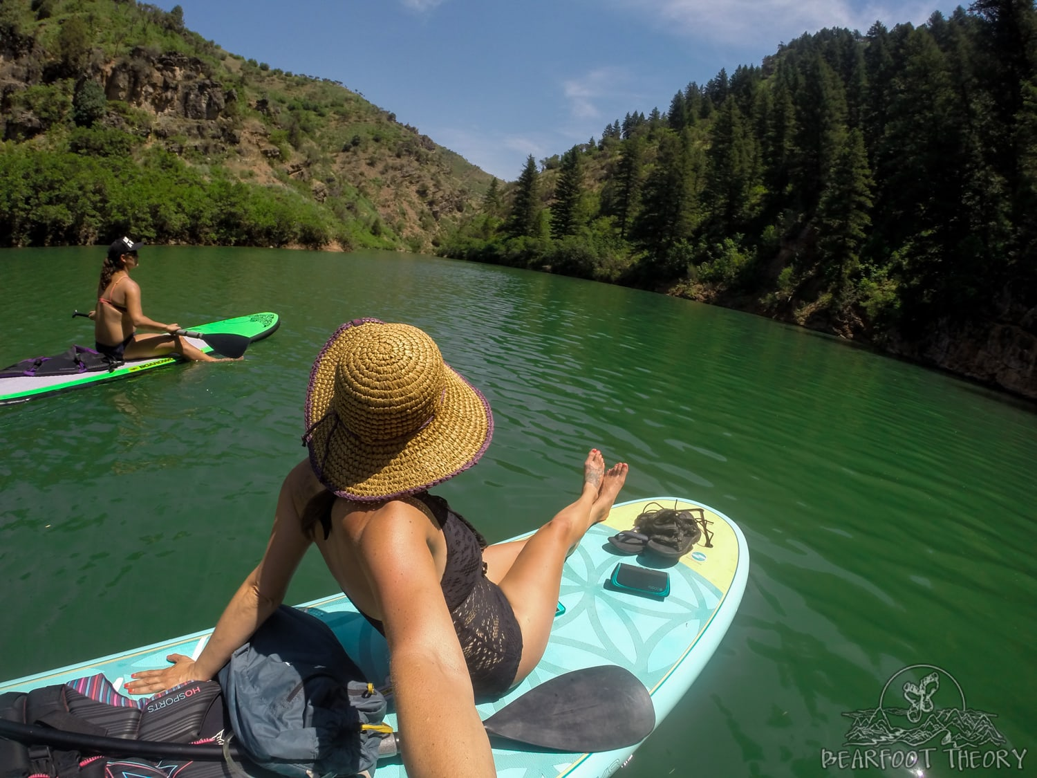 Stand-up Paddle Boarding at the Causey Reservoir near Salt Lake City