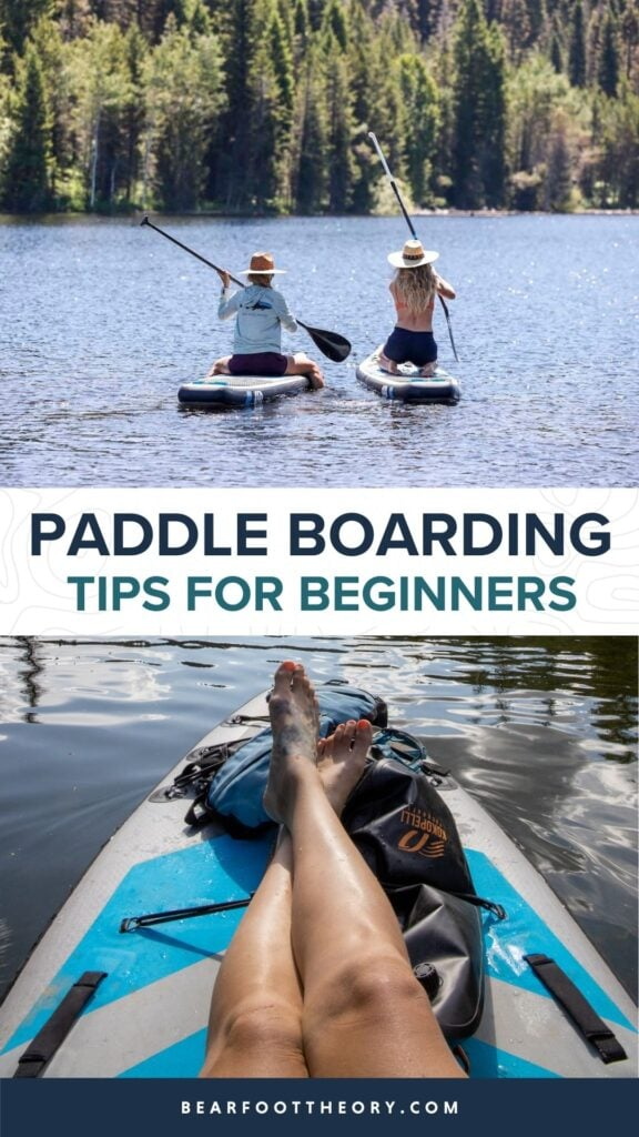 Want to try stand up paddleboarding this summer? Learn the basics of SUP with our paddle boarding for beginners guide including tips and gear!