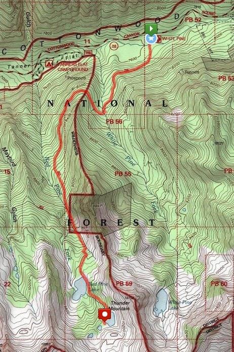 Red Pine Lake Trail map
