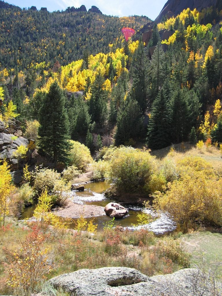 Lost Creek Wilderness in Colorado has 130 miles of trails that traverse tree-lined mountain parks, fascinating rounded granite domes, and rare granite arches.