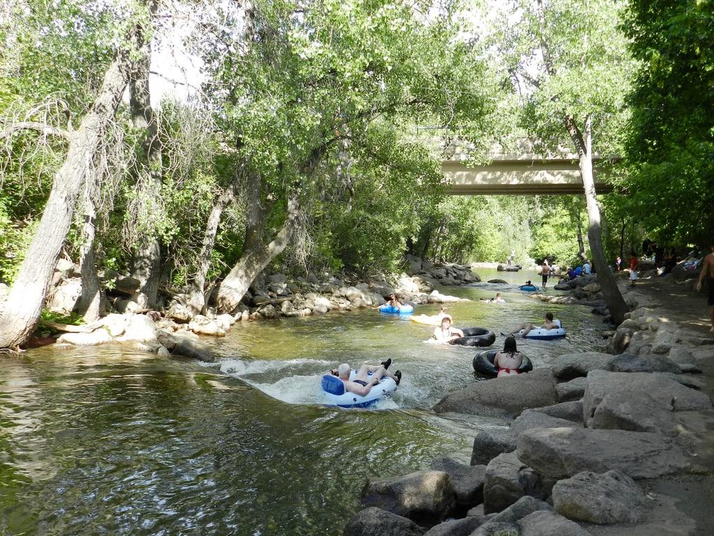Tubing on Boulder Creek in Boulder, Colorado