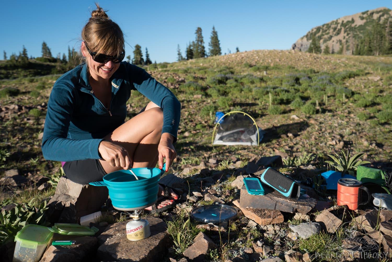 Camping below Mt. Timpanogos near Emerald Lake