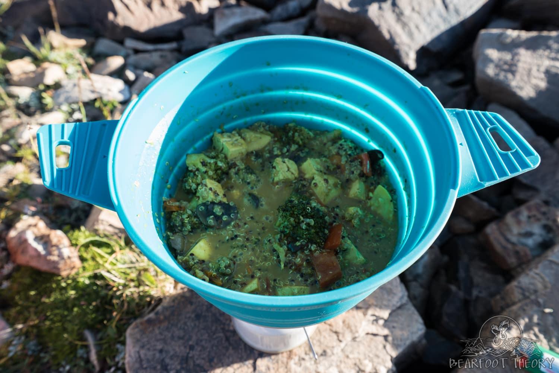 Camp veggie curry