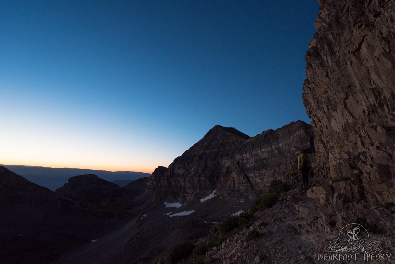 Sunrise on the way to the Mount Timpanogos summit