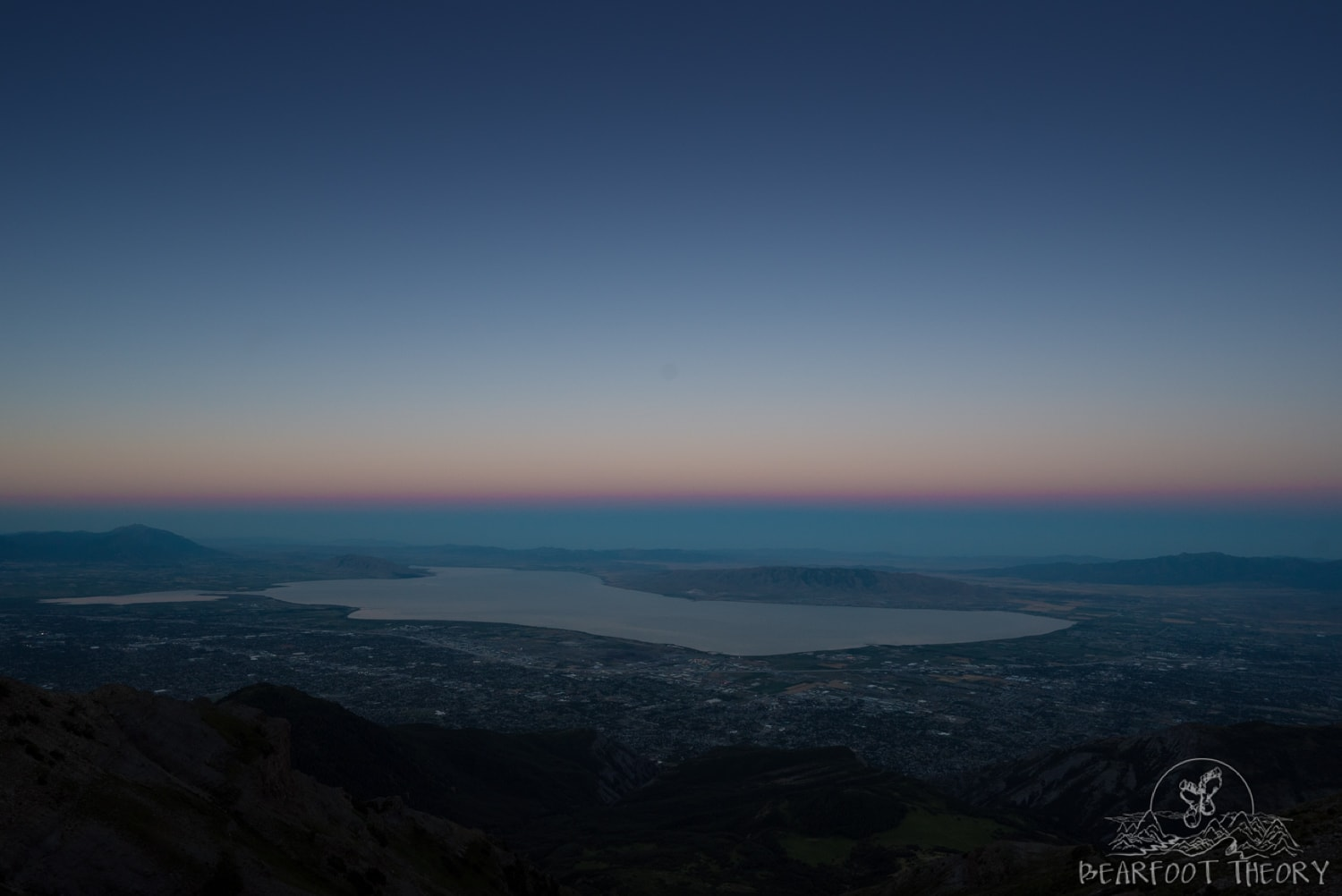 Sunrise over the Salt Lake Valley from the Mount Timpanogos saddle
