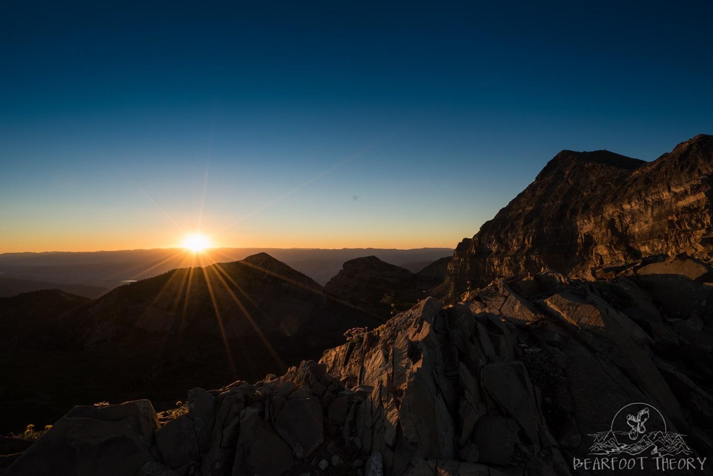 Sunrise on the saddle of Mount Timpanogos