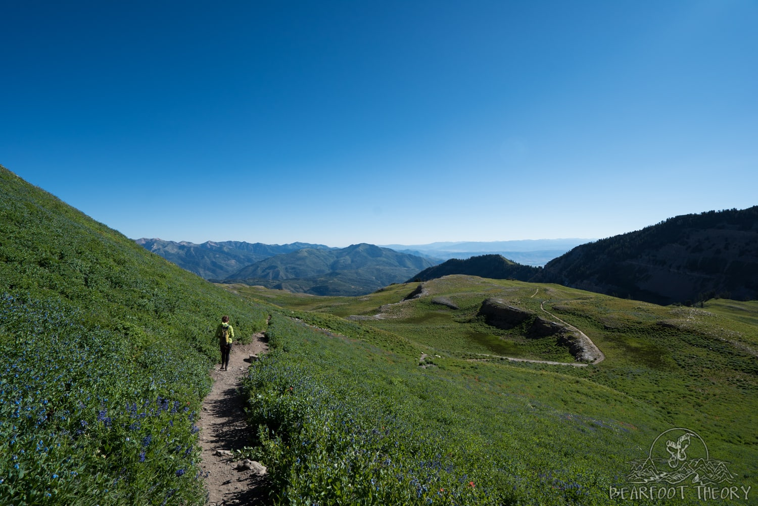The Timpooneke Trail coming down from the summit of Mount Timpanogos