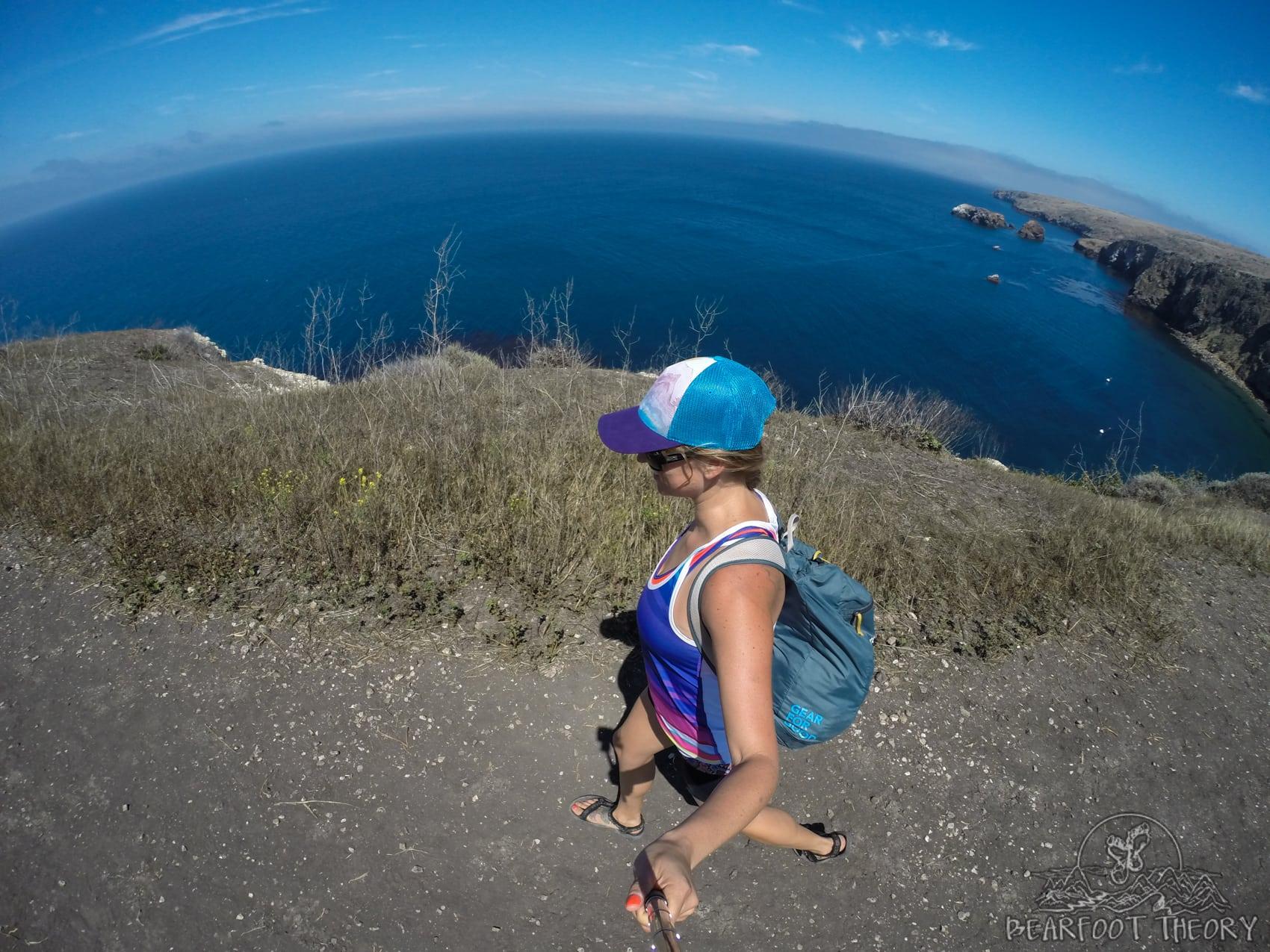 Hiking on Santa Cruz Island in Channel Islands National Park